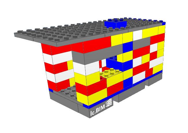 Legomodell BIM mit Logo lc.BIM